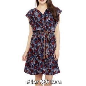 Dresses & Skirts - Last 1! Flutter Sleeve Dress in Red Floral